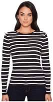 Lauren Ralph Lauren Striped Button-Shoulder Top Women's Clothing