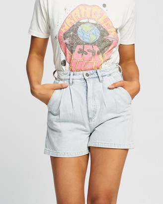 Lee Women's Blue Denim - High Relaxed Shorts - Size 6 at The Iconic