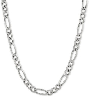 "Giani Bernini Figaro 22"" Chain Necklace in Sterling Silver"