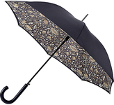 Morris & Co Bloomsbury-2 Lodden Pure Walking Umbrella, Black/Grey