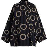 Vivienne Westwood Joan ring and stripe-print cotton-blend coat