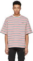 Dsquared2 Tricolor Striped Safari T-Shirt
