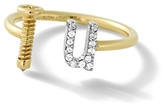 Alison Lou 14K Gold Screw U Ring