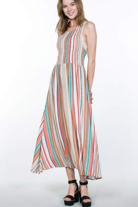 En Creme Multi-Color Stripe Maxi