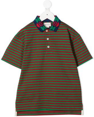 Gucci Kids Striped Polo Shirt