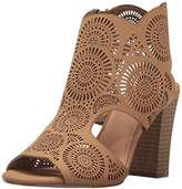 XOXO Women's Benedetta Heeled Sandal, Tan, 7.5 M US