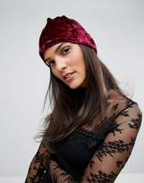 Anna Sui Crushed Velvet Beanie