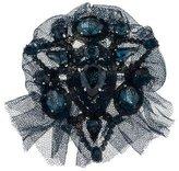 Lanvin Crystal & Lace Brooch