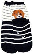 Tonsee Women Cartoon Style Puppy Footprints Cotton Socks