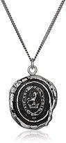 "Pyrrha Talisman Men's Sterling Silver Devoted Father Pendant Necklace, 22"""