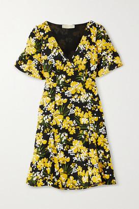 MICHAEL Michael Kors Floral-print Crepe Mini Dress - Yellow