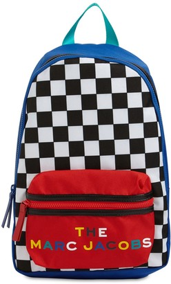 Little Marc Jacobs Check Print Nylon Canvas Backpack