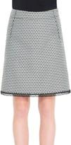 Max Studio Art Nouveau Jacquard Skirt