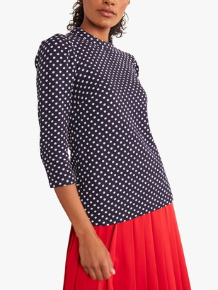 Boden Aria Jersey Jacquard Top