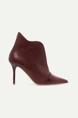 Malone Souliers Cora 85 Leather Ankle Boots - Burgundy