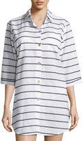 A.N.A a.n.a Stripe Swimsuit Cover-Up Dress