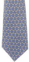 Hermes African Drum Print Silk Tie