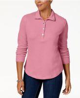 Karen Scott Snap-Front Polo Shirt, Created for Macy's