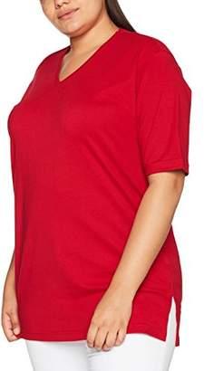 Ulla Popken Women's V-Neck, Short Sleeve T-Shirt,32 (Manufacturer Size: 58/60)