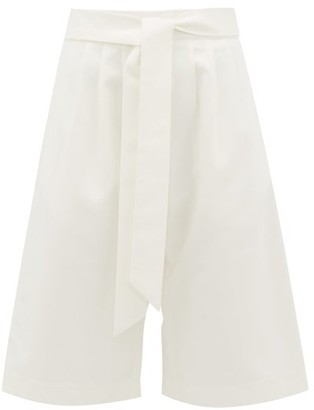 Merlette New York Saint Pierre Cotton-twill Culottes - Ivory