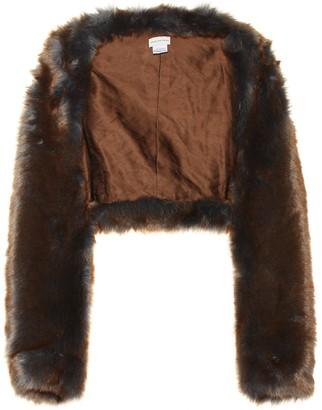 Dries Van Noten Cropped faux fur jacket