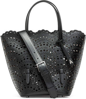 Alaia Nicole Zip black bucket bag