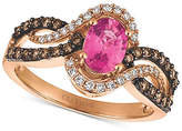 LeVian Le Vian Chocolatier® Bubblegum Pink SapphireTM (3/4 ct. t.w.) and Diamond (1/2 ct. t.w.) Ring in 14k Rose Gold