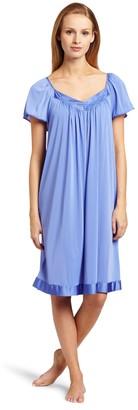 Exquisite Form Vanity Fair Women's Coloratura Sleepwear Short Flutter Sleeve Gown 30109