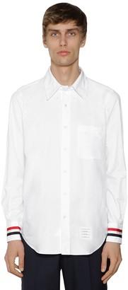 Thom Browne Cotton Oxford Shirt W/ Grosgrain Cuffs