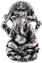 Dovewill Resin Seated Ganesha Buddha Meditation Statue Religious Decorative Figurine Hand Painted Craft -Copper