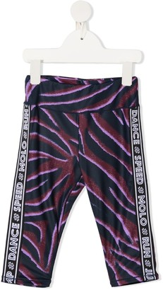 Molo Orlaith zebra-print leggings