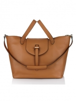 Meli-Melo Classic Thela Tote In Tan Calf Leather