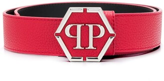 Philipp Plein PP hexagonal plaque belt