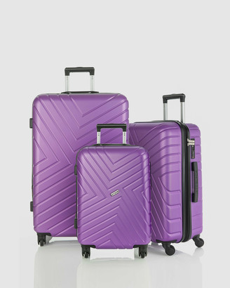 Jett Black Violet Maze Luggage Set