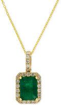 Effy Brasilica by Emerald (1-3/8 ct. t.w.) and Diamond (1/4 ct. t.w.) Pendant Necklace in 14k Gold