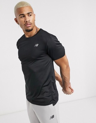 New Balance Running accelerate logo t-shirt in black