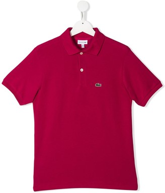 Lacoste Kids TEEN embroidered logo polo shirt