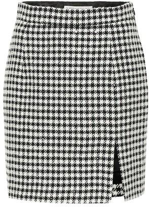 Alessandra Rich Wool-blend tweed miniskirt