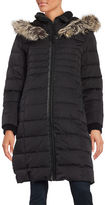 BCBGeneration Faux Fur-Trimmed Hooded Puffer Coat
