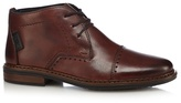 Rieker Brown Leather Lace-up Brogues