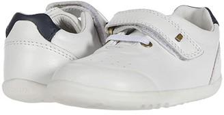 Bobux Step Up Ryder (Infant/Toddler) (White/Navy) Kid's Shoes