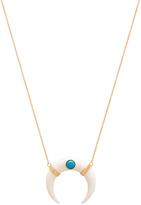 Jacquie Aiche Double Horn Necklace