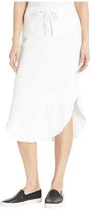 LAmade Brenna Modal/Cotton Fleece Skirt (Black) Women's Skirt