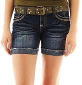 JCPenney Wallflower Frayed Sequin Shorts
