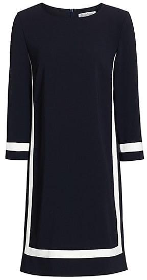 Max Mara Fresis Three-Quarter Sleeve Contrast Trim Dress