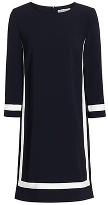 Max Mara Fresis Three-Quarter Sleeve Contrast Trim Dress