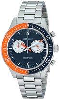 Jack Spade Men's WURU0086 Davison Analog Display Swiss Quartz Silver Watch