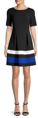 Eliza J Colorblock Mini A-Line Dress