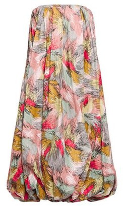 Missoni Strapless Gathered Printed Textured-woven Midi Dress