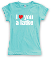 Urban Smalls Aqua 'I Heart You A Latke' Tee - Toddler & Kids